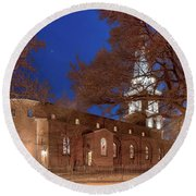 Night Lights St Anne's In The Circle Round Beach Towel