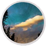 Round Beach Towel featuring the photograph Night Moves by James BO Insogna