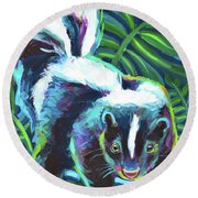 Night Moves Round Beach Towel by Robert Phelps