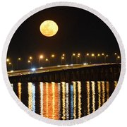 Night Of Lights Round Beach Towel by Gary Smith