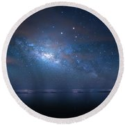 Round Beach Towel featuring the photograph Night Of The Milky Way by Mark Andrew Thomas