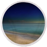 Round Beach Towel featuring the photograph Night On Sanibel Island Beach by Greg Mimbs