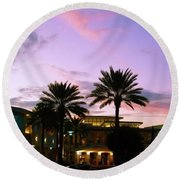 Night On The Town Palm Beach Florida Photo 515 Round Beach Towel