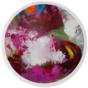 Night Out Round Beach Towel