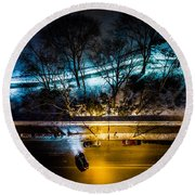 Round Beach Towel featuring the photograph Central Park by M G Whittingham