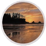 Night Pastel Round Beach Towel