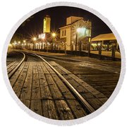 Night Rails Round Beach Towel