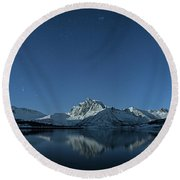 Night Reflection Round Beach Towel