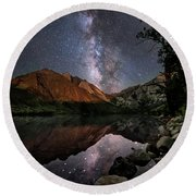 Night Reflections Round Beach Towel by Melany Sarafis