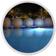 Round Beach Towel featuring the photograph Night Resort by Shane Bechler