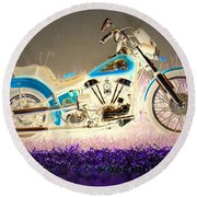 Round Beach Towel featuring the photograph Night Rider by Joyce Dickens