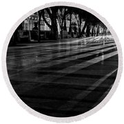 Night Shadows Round Beach Towel