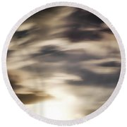 Round Beach Towel featuring the photograph Night Sky 1 by Leland D Howard