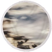 Round Beach Towel featuring the photograph Night Sky 2 by Leland D Howard
