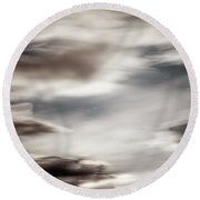 Round Beach Towel featuring the photograph Night Sky 3 by Leland D Howard