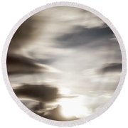 Round Beach Towel featuring the photograph Night Sky 4 by Leland D Howard