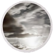 Round Beach Towel featuring the photograph Night Sky 5 by Leland D Howard
