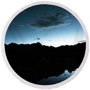 Night Sky Himalayas Tibet Yantra.lv Round Beach Towel