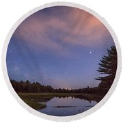 Night Sky Over Maine Round Beach Towel