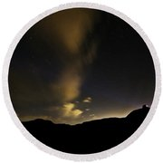 Night Time At Palo Duro Canyon State Park - Texas Round Beach Towel