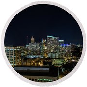 Night View  Round Beach Towel