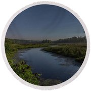 Night Waters Round Beach Towel
