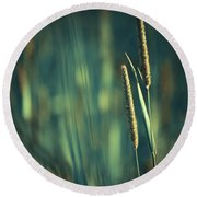 Night Whispers Round Beach Towel