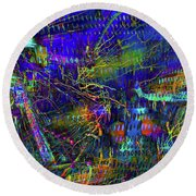 Nightime Movement Round Beach Towel by David Pantuso