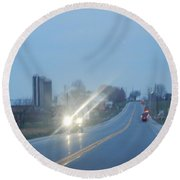 Nightime Travel Round Beach Towel