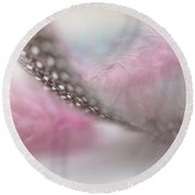 Round Beach Towel featuring the photograph Nightingale's Trill.  Angels Flight Series by Jenny Rainbow