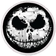 Nightmare Round Beach Towel