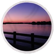 Night's Calling Round Beach Towel