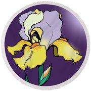 Nighttime Iris Round Beach Towel