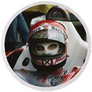 Niki Lauda. 1977 Austrian Grand Prix Round Beach Towel