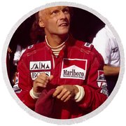 Niki Lauda. Marlboro Mclaren International Round Beach Towel