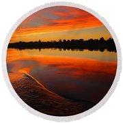 Nile Sunset Round Beach Towel