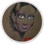 Nina Mae -- African-american Actress Portrait Round Beach Towel