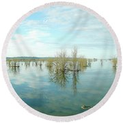 Nisqually High Tide Round Beach Towel