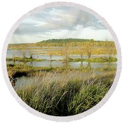 Nisqually Tide Coming In Round Beach Towel