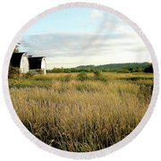 Nisqually Two Barns Round Beach Towel