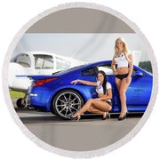 Nissan And Girl 1920x1200 006 Round Beach Towel