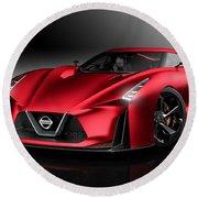 Nissan Concept 2020 Vision Gran Turismo Round Beach Towel
