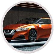 Nissan Sport Sedan Concept 2014 Wide Round Beach Towel