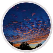 Nitrogen Sunrise Round Beach Towel
