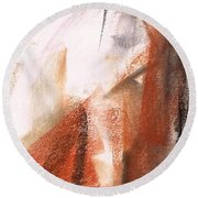 The Horse Within  Round Beach Towel by Frances Marino