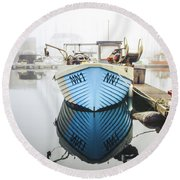 Round Beach Towel featuring the photograph Nn1 Fishing Boat Sovereign Harbour, Eastbourne. by Will Gudgeon