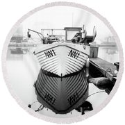 Round Beach Towel featuring the photograph Nn1 Fishing Boat by Will Gudgeon