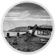 Round Beach Towel featuring the photograph Nn405 by Will Gudgeon