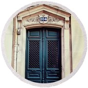 No. 104 - Paris Doors Round Beach Towel