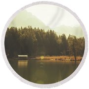 No Ceiling Round Beach Towel